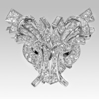 Diamonds Double Clip Brooch