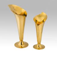 Tiffany vermeille vases