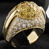 Fancy diamons dome ring